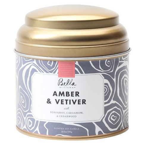 10.2oz Lidded Tin Jar Candle Amber & Vetiver - Bella By Illume - image 1 of 1