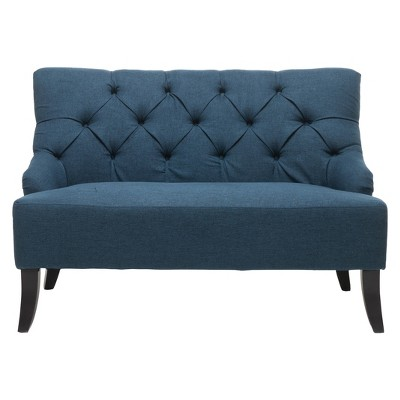 Nicole Settee - Dark Blue - Christopher Knight Home