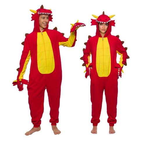 FUNZIEZ! - Hydra Dragon Slim Fit Adult Unisex Novelty Union Suit - image 1 of 4
