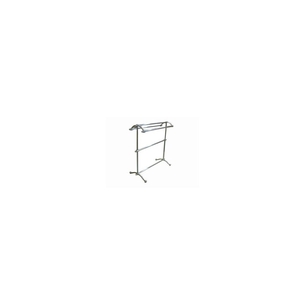 Pedestal Towel Rack Chrome (Grey) - Kingston Brass