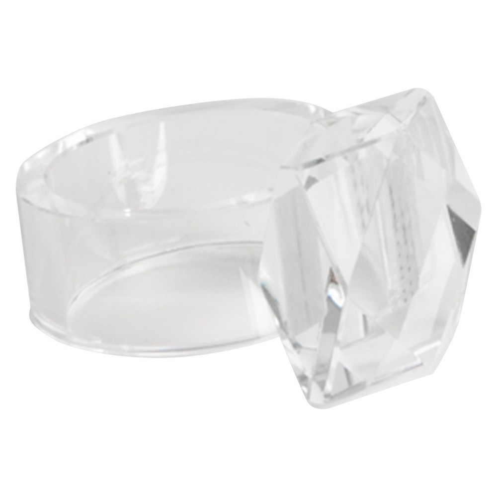Image of Crystal Napkins Rings - Clear (Set of 4)