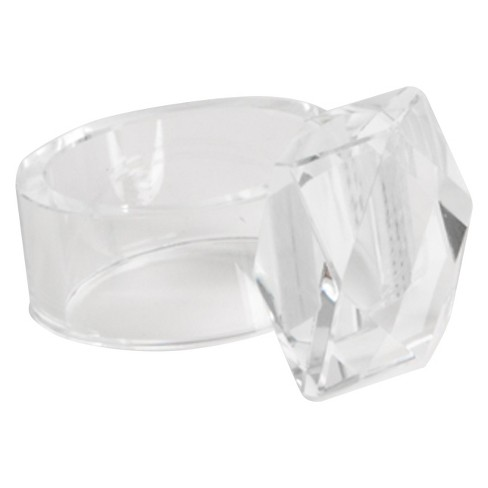 Crystal Napkins Rings - Clear (Set of 4) - image 1 of 1