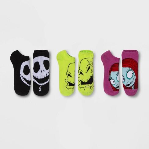 Women's Nightmare Before Christmas 3pk Low Cut Socks - Black/Purple/Green One Size - image 1 of 2
