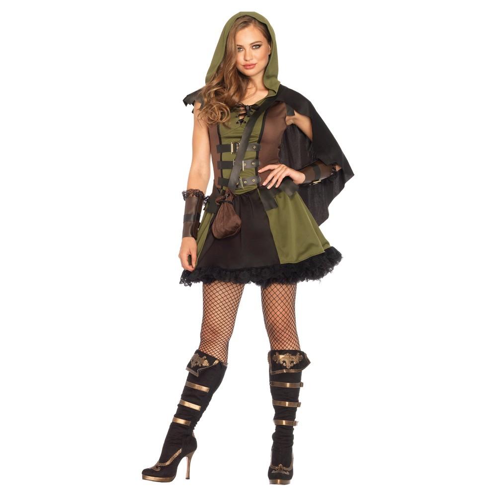 Image of Halloween Robin Hood Women's 3 Piece Costume Large, Green