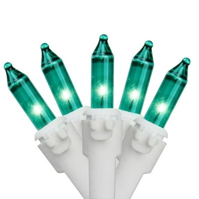 Brite Star 100ct Mini Christmas Lights Teal - 49.6' White Wire