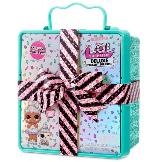 L.O.L. Surprise! Deluxe Present Surprise with Limited Edition Sprinkles Doll and Pet image number null