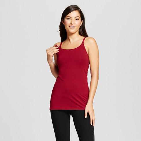 78fea708f7 Women s Nursing Cotton Cami - Gilligan   O Malley™ - Bing Cherry XL   Target