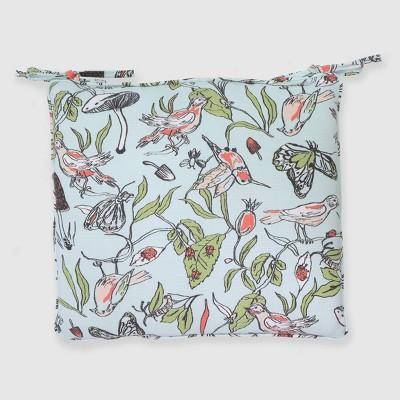 Birds & Butterflies Outdoor Seat Cushion Blue - Opalhouse™
