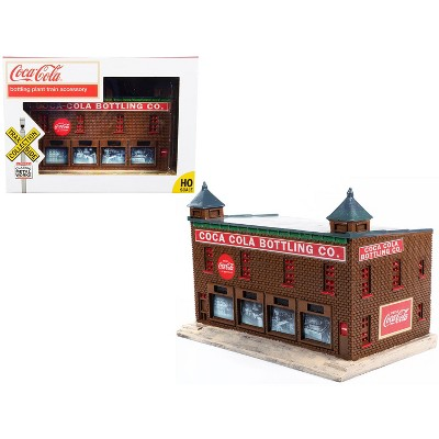 """""""Coca-Cola Bottling Co."""" Bottling Plant Building """"TraxSide Collection"""" Series for 1/87 (HO) Scale Models by Classic Metal Works"""