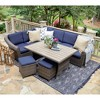Walton 7pc Wicker Patio Sectional Set - Navy - Leisure Made - image 4 of 4