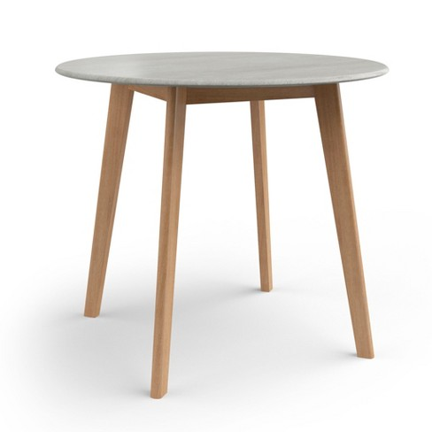 36 Percy Round Dining Table With Faux Cement Top Natural Aeon Target
