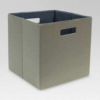 Fabric Cube Storage Bin Gray 13  - Threshold™