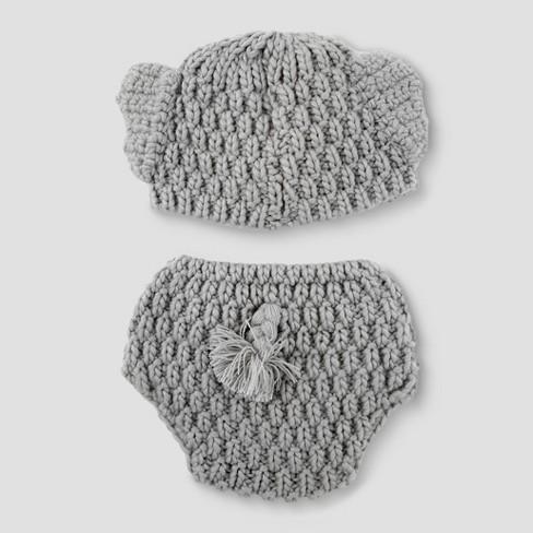 e056766dedc Baby Elephant Hat   Diaper Cover Set - Cloud Island™ Gray   Target