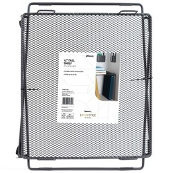 "12"" Mesh Locker Shelf - Gray - U-Brands"