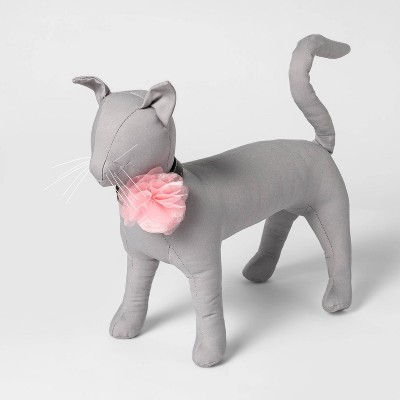 "Chiffon Flower Dog and Cat Collar Slide - 3.5"" - Pink - Boots & Barkley™"