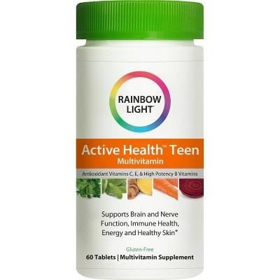 Rainbow Light Active Health Teen Multivitamin / Mineral Dietary Supplement Tablets - 60ct