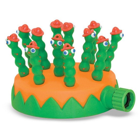 Melissa & Doug Sunny Patch Grub Scouts Sprinkler Toy With Hose Attachment, Kids Unisex image number null