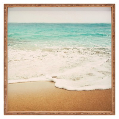 Bree Madden Ombre Beach Square Tray - Blue - Deny Designs