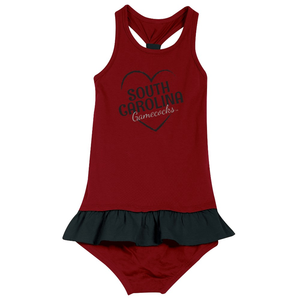 South Carolina Gamecocks After Her Heart Toddler Dress 2T, Toddler Girl's, Multicolored