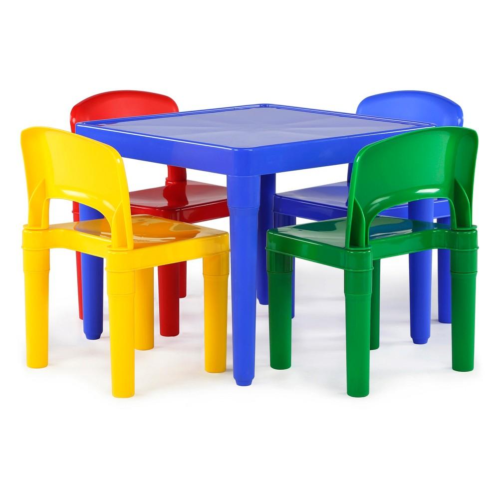 Plastic Table & 4 Chairs - Primary - Tot Tutors, Blue