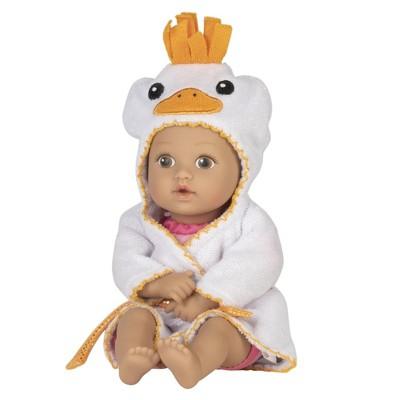 Adora Baby Bath Toy Ducky, 8.5 inch Bath Time Baby Tot Doll with QuickDri Body