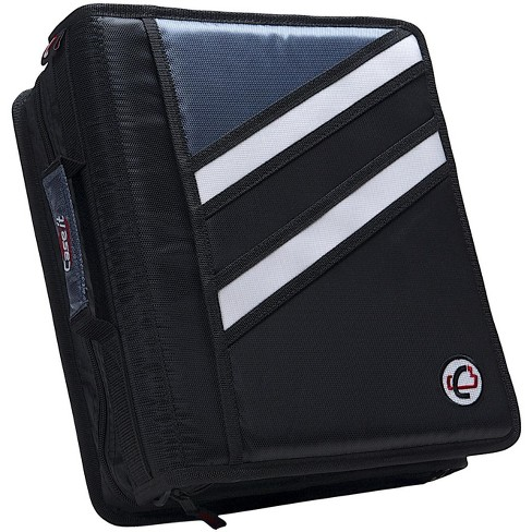 Case-it Z-Design Zippered Binder with Tab File, D-Ring, 1-1/2 Inches, Black - image 1 of 4