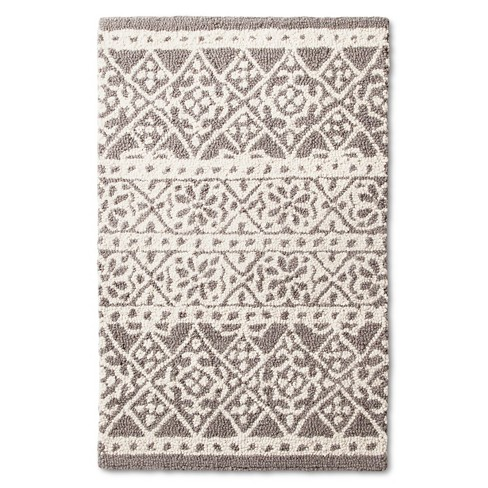 Wool Tufted Tile - Gray - (2'x3') - Threshold™ - image 1 of 2