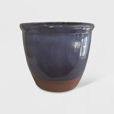 14  Dual Reactive Glaze Planter Blue - Threshold™