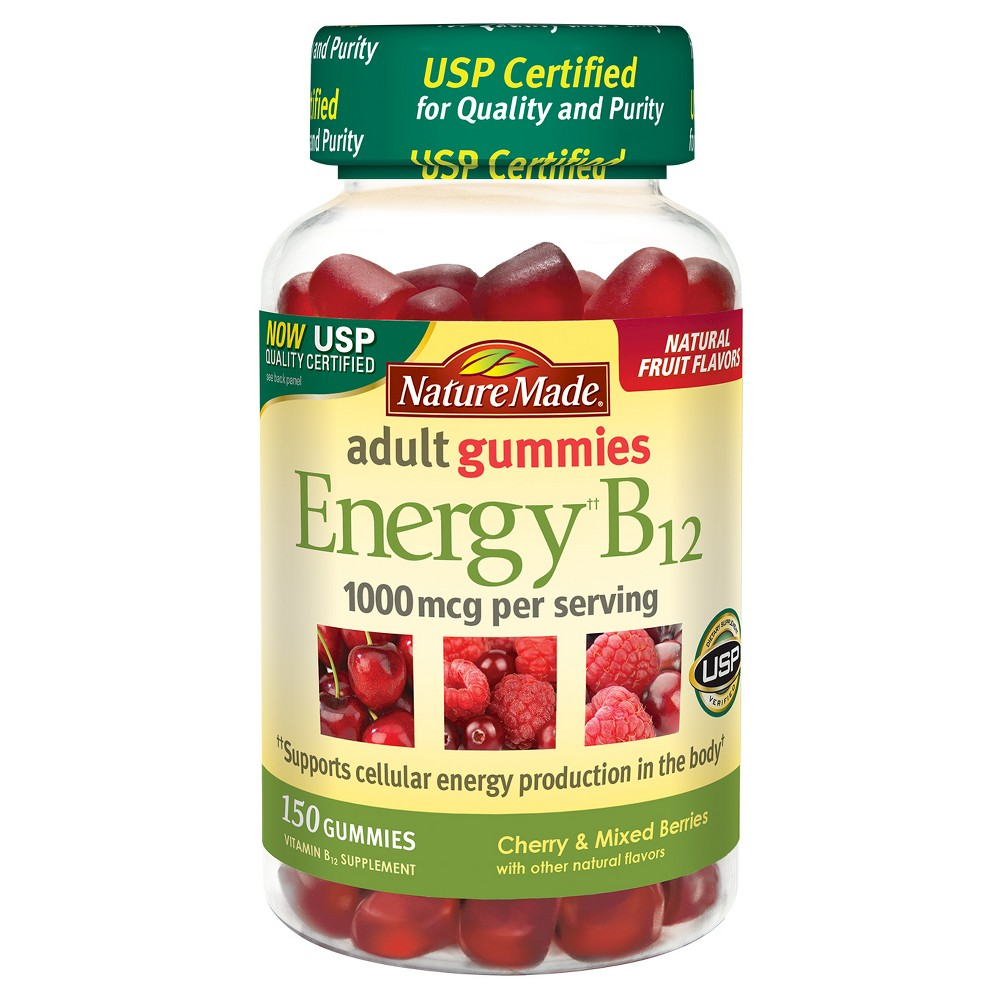 Nature Made Energy B-12 Dietary Supplement Gummies - Cherry & Mixed Berries - 150ct