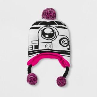 Girls Star Wars BB8 Hat - White One Size