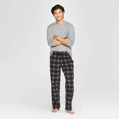 Men's Plaid Microfleece Pajama Set - Goodfellow & Co™ Heather Gray 2XL