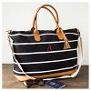 Women's Monogrammed Black Striped Oversized Weekender Bag - Cathy's Concepts - image 2 of 3