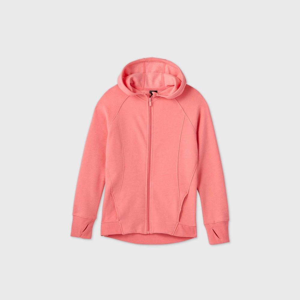 Girls 39 Fleece Full Zip Hoodie Sweatshirt All In Motion 8482 Pink S