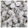 6.5ft Pre-lit Artificial Christmas Tree Flocked Douglas Fir Clear Lights - Wondershop™ - image 2 of 4
