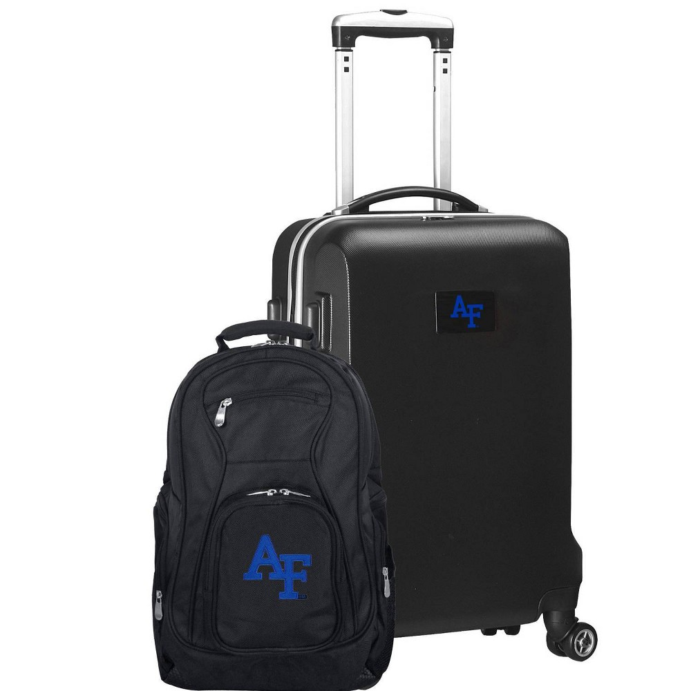 NCAA Air Force Falcons Deluxe 2pc Backpack & Carry-On Luggage Set - Black
