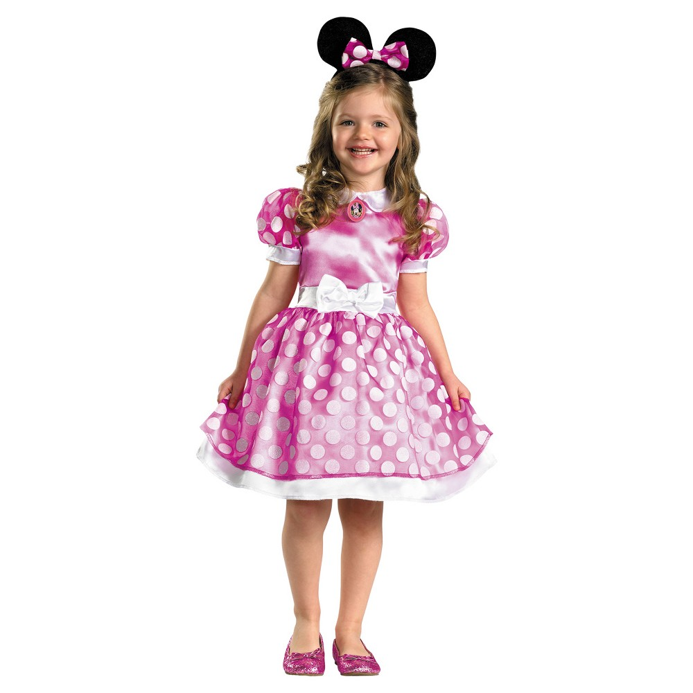 Image of Halloween Girls' Pink Minnie Mouse Classic Toddler Costume 3t-4t, Girl's, MultiColored