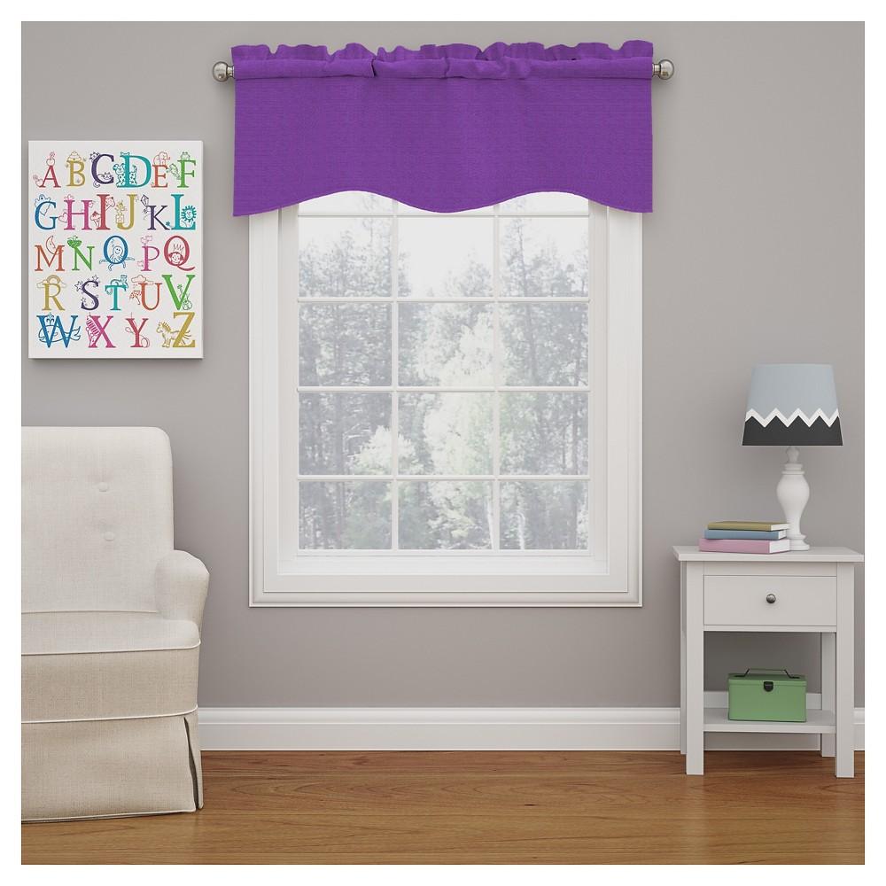 Kendall Blackout Wave Window Valance Purple (18