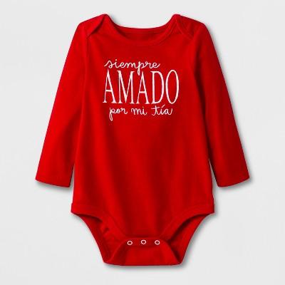 Baby Girls' Long Sleeve Amado Bodysuit Set - Cat & Jack™ Red Newborn