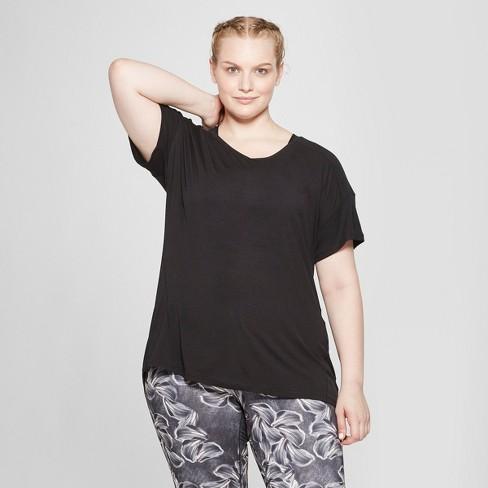 676706c097025 Women s Plus Size Core T-Shirt - C9 Champion® Black 2X   Target
