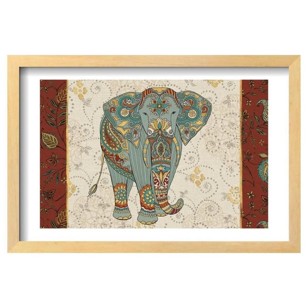 Elephant Caravan IA by Daphne Brissonnet Framed Poster 19