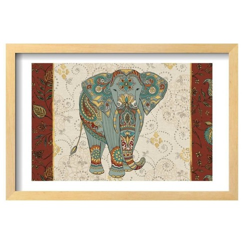 "Elephant Caravan IA by Daphne Brissonnet Framed Poster 19""x13"" - Art.Com - image 1 of 2"