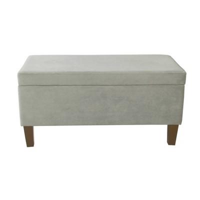 Large Textured Storage Bench - HomePop