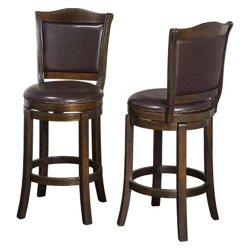 Fine Tara 30 Swivel Stool Set Of 2 Brown Buylateral Creativecarmelina Interior Chair Design Creativecarmelinacom