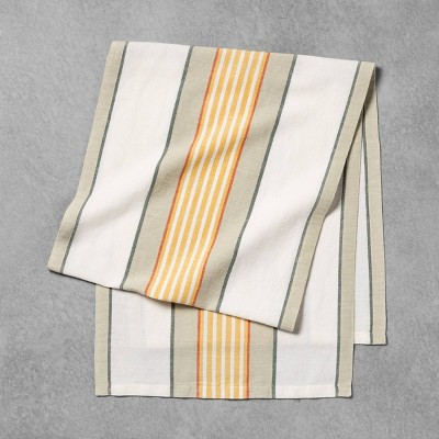 Oversized Table Runner Yellow / Green Stripe - Hearth & Hand™ with Magnolia