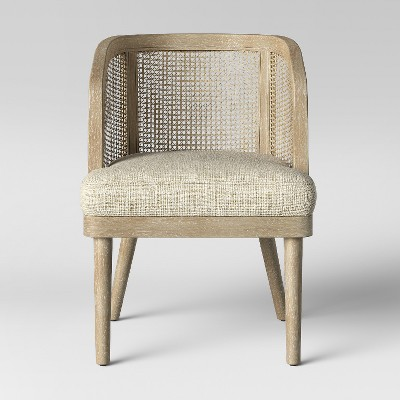 Juniper Cane and White Washed Wood Barrel Chair - Opalhouse™