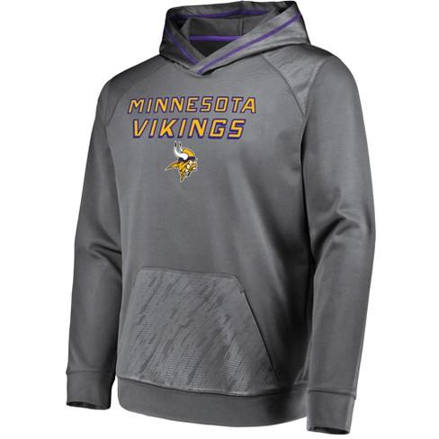 more photos a0f92 395bc NFL Minnesota Vikings Men's Geo Fuse Gray Embossed Performance Hoodie