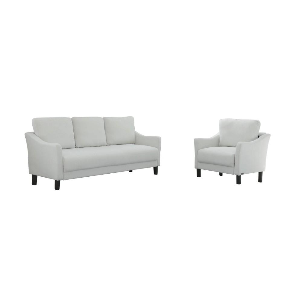 Awesome Cleo Fabric Sofa Armchair Set Gray Abbyson Living Uwap Interior Chair Design Uwaporg
