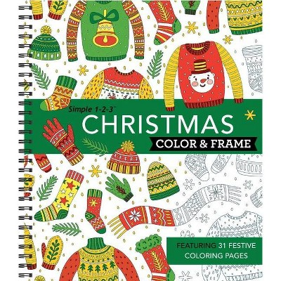 Color and Frame Christmas (Spiral Bound)