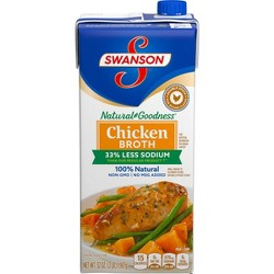 Swanson Natural Goodness Chicken Broth Carton - 32oz