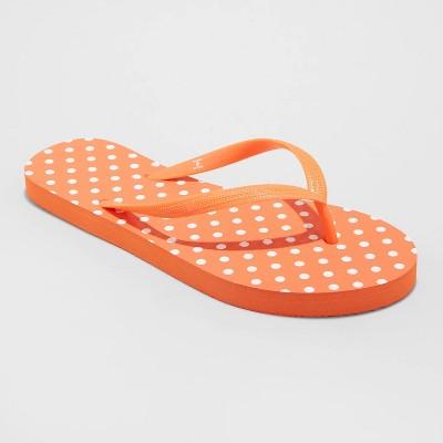 Women's Brynn Polka Dot Flip Flop Sandals - Shade & Shore™ Red 10
